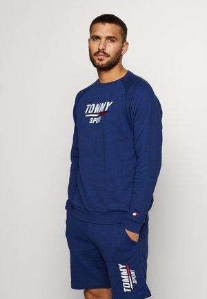 PRINTED CREW - Sweatshirt - blue
