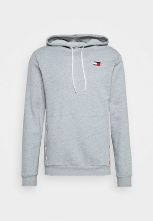 PIPING HOODY - Jersey con capucha - grey