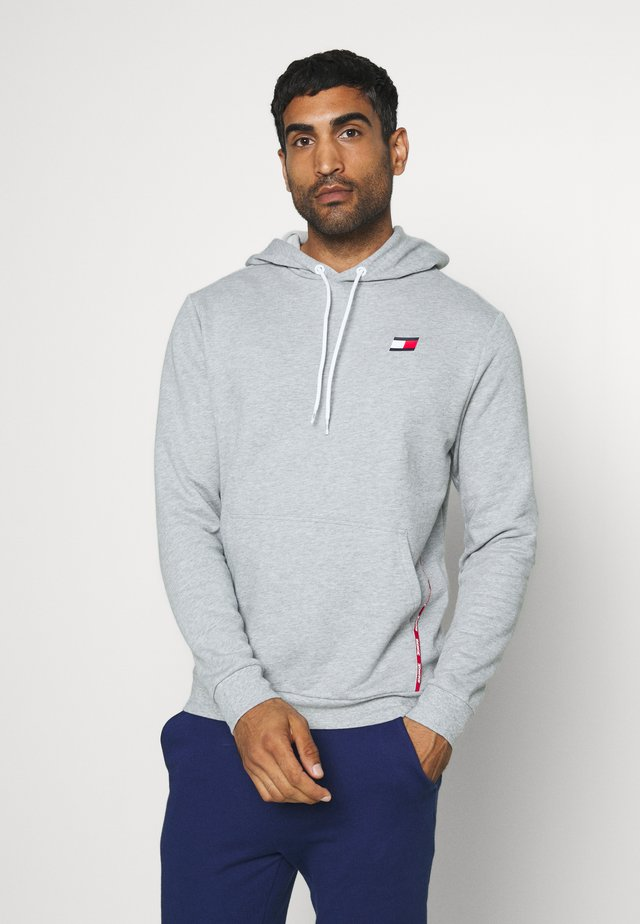 PIPING HOODY - Sweat à capuche - grey
