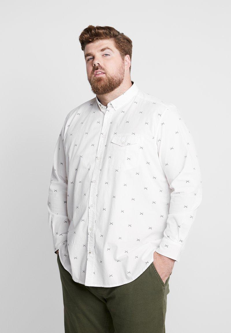 TOM TAILOR MEN PLUS - CONVERSATIONAL - Overhemd - white/navy