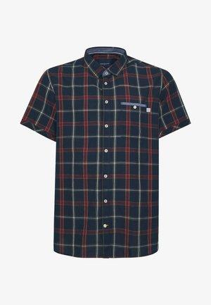 CHECK  - Shirt - navy/red
