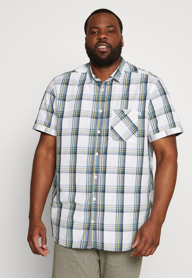 COLOURFUL CHECK - Shirt - white/blue