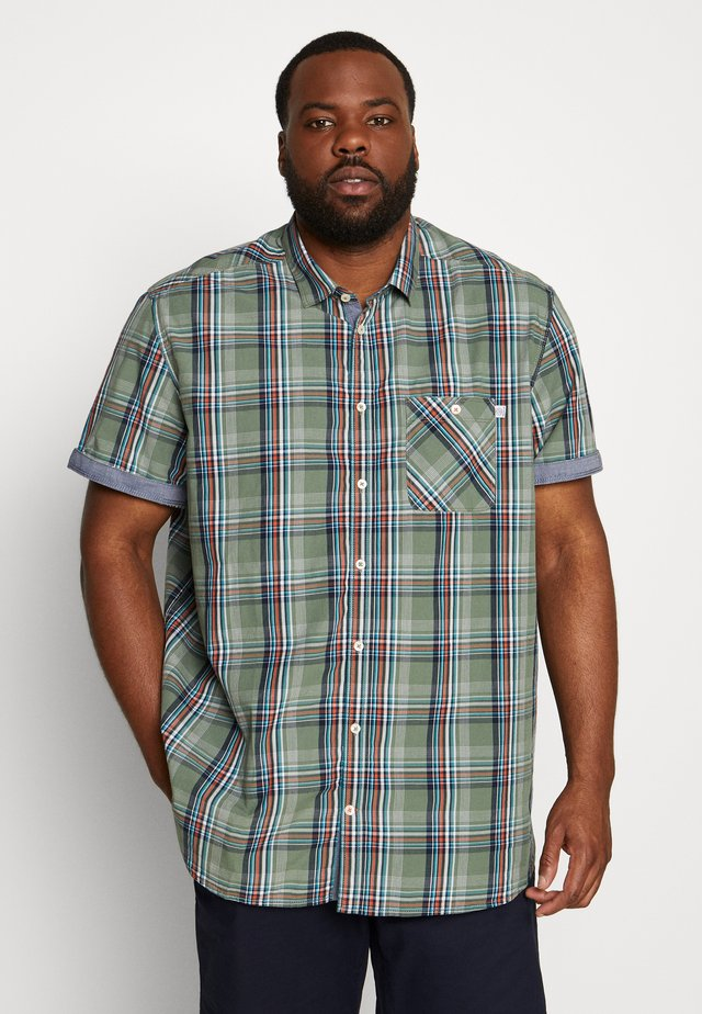COLOURFUL CHECK - Shirt - olive base/blue/green