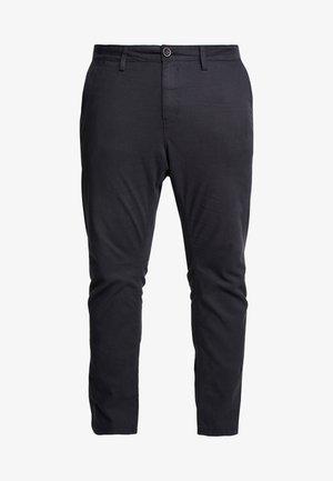 WASHED STRUCTURE  - Pantalon classique - dark grey yarndye structure