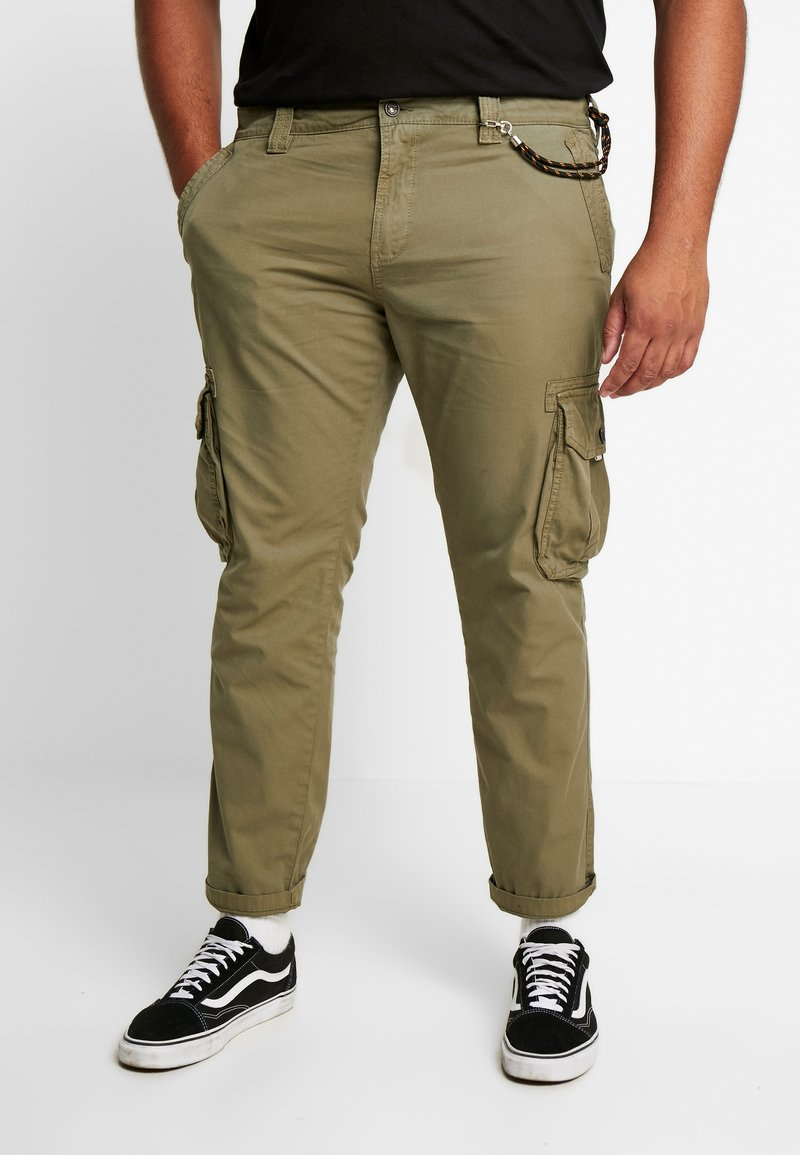 TOM TAILOR MEN PLUS - Bojówki - olive drap