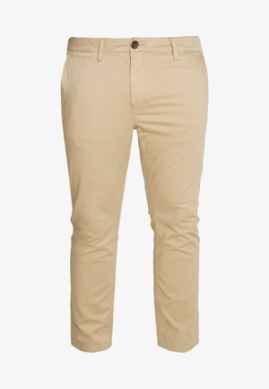 WASHED STRUCTURE CHINO - Kalhoty - beige