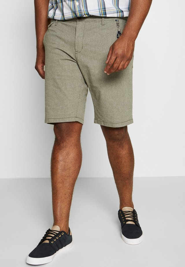CHINO STRUCTURE - Shorts - olive/green