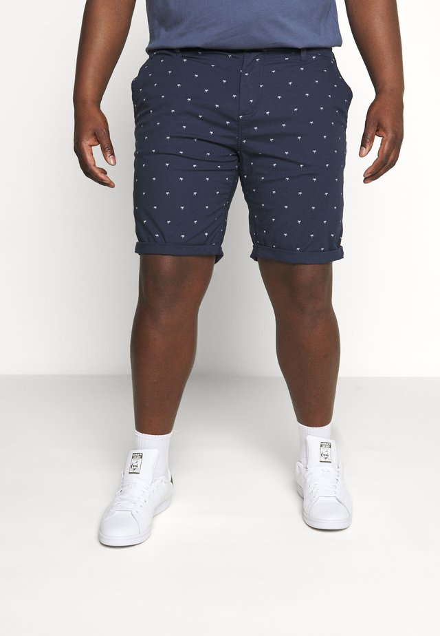 PRINTED - Szorty - navy/white