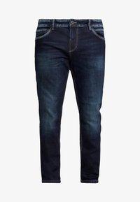 TOM TAILOR MEN PLUS - 5 POCKET - Jeans straight leg - dark stone wash denim/blue - 3