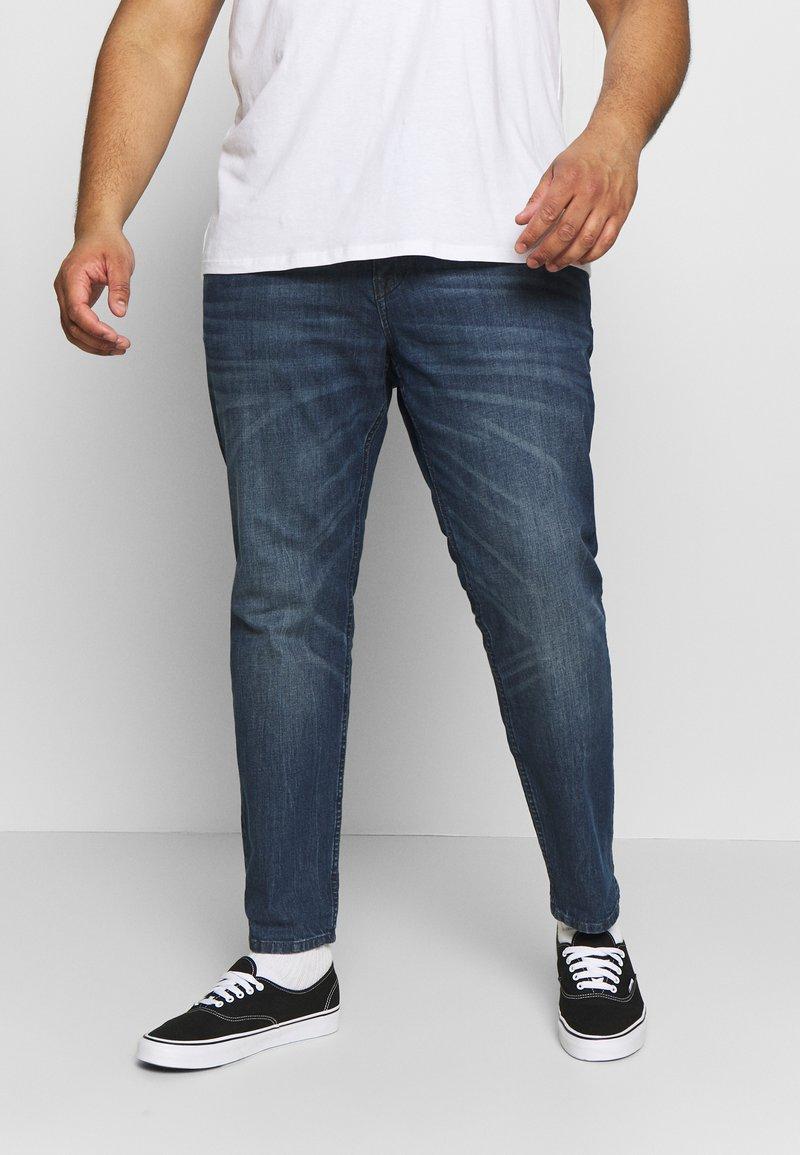 TOM TAILOR MEN PLUS - 5 POCKET  - Slim fit jeans - dark stone wash