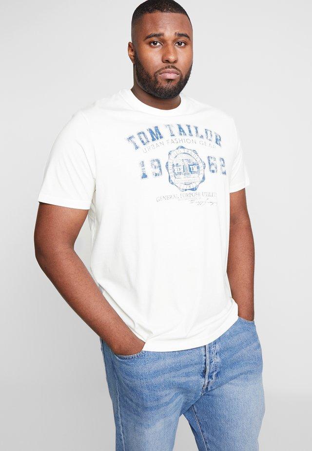 LOGO TEE - T-shirt med print - vanilla white