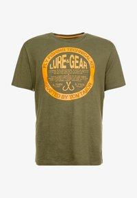 TOM TAILOR MEN PLUS - T-shirt print - dusty green - 4