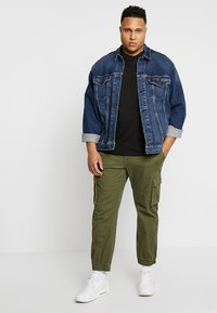 TOM TAILOR MEN PLUS - CREW NECK 2 PACK - Basic T-shirt - black - 1