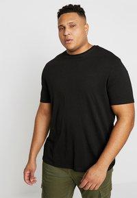 TOM TAILOR MEN PLUS - CREW NECK 2 PACK - Basic T-shirt - black - 2