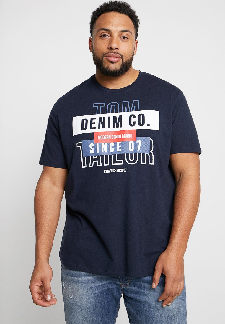 TOM TAILOR MEN PLUS - T-SHIRT WITH PRINT - T-shirts print - sky captain blue