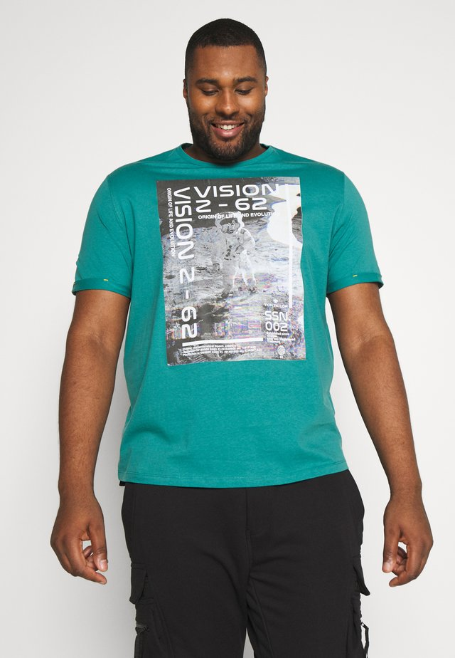 REFLECTIVE  - T-shirt med print - ever green