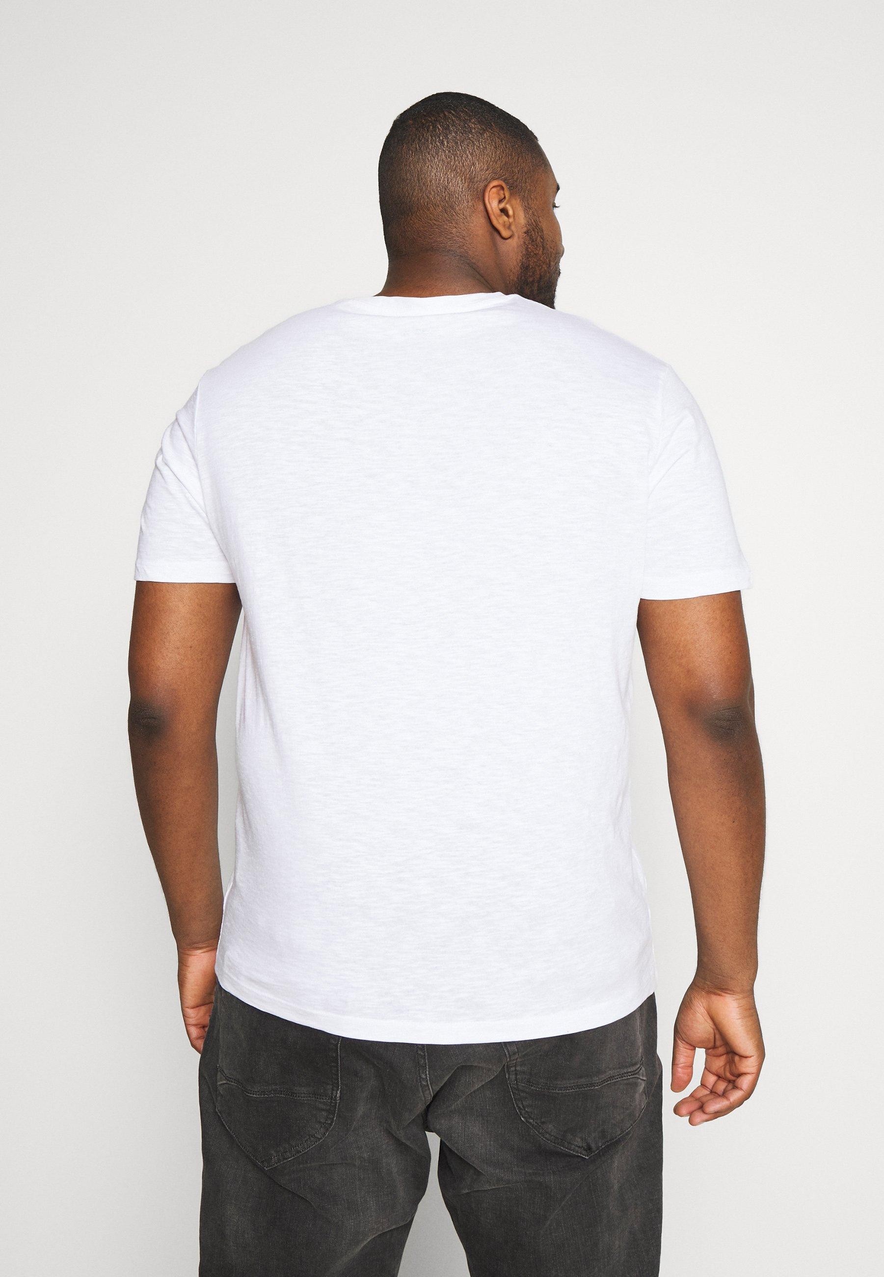 Tom Tailor Men Plus Slub With Print - T-shirt Con Stampa White FY15a