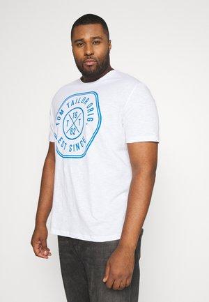 SLUB WITH PRINT - Print T-shirt - white