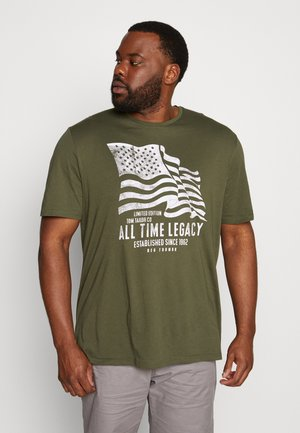 CASUAL  - Print T-shirt - olive night green