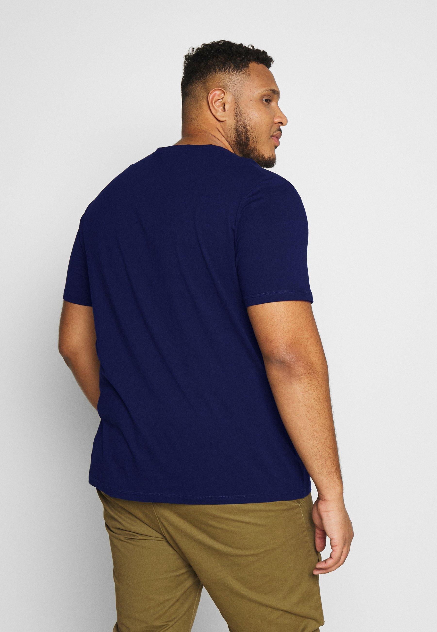 TOM TAILOR MEN PLUS GASOLINE - T-shirt z nadrukiem - sky captain blue