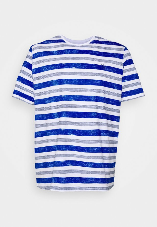 PRINTED STRIPES T-SHIRT - T-shirt print - white bold watery