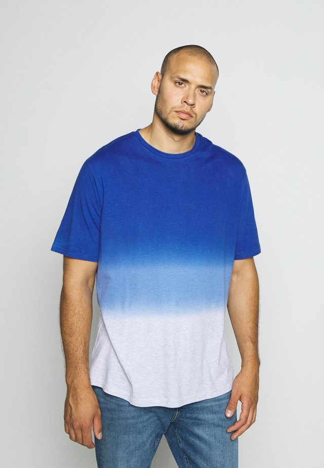 DIP DYED - T-shirt med print - shiny royal