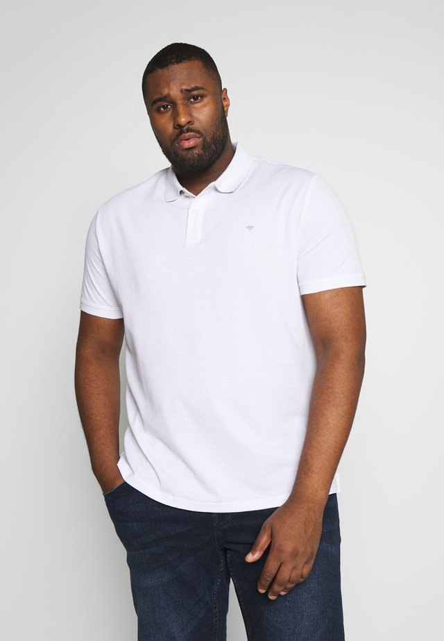 BASIC WITH CONTRAST - Koszulka polo - white
