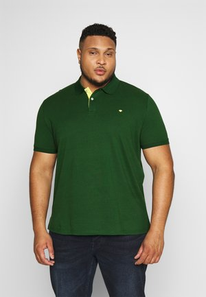 BASIC WITH CONTRAST - Polo shirt - pineneedle green