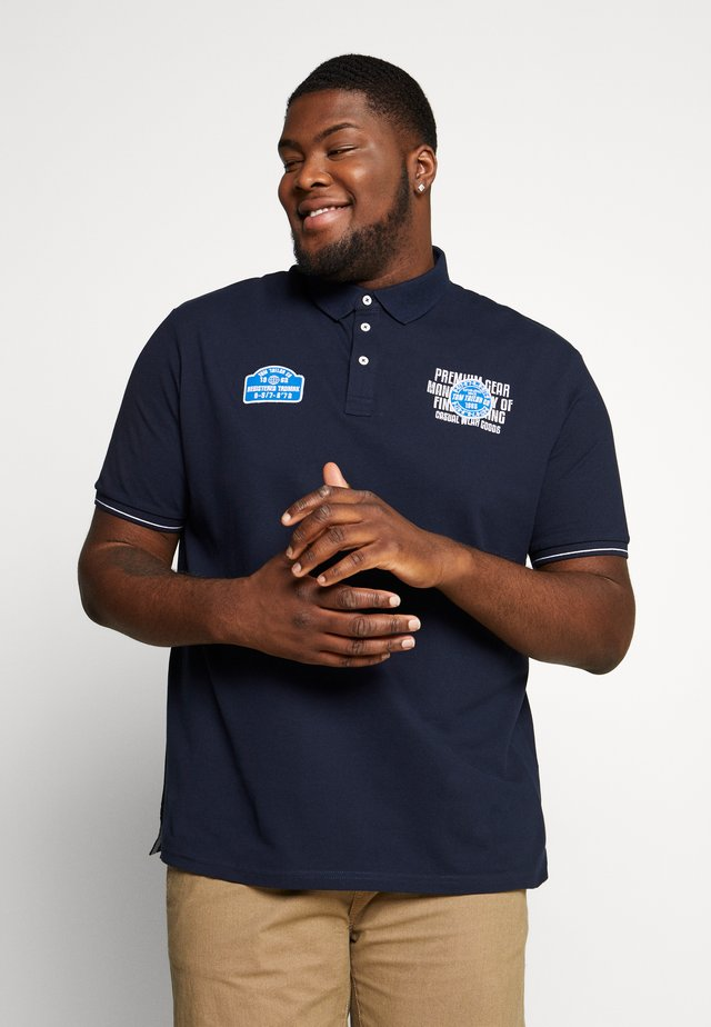 SMART WITH PATCHES - Polo shirt - sky captain blue