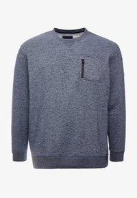 TOM TAILOR MEN PLUS - GRINDLE CREW NECK WITH POCKET - Sweater - navy blue - 3