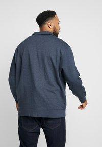 TOM TAILOR MEN PLUS - BASIC STAND UP JACKET - Zip-up hoodie - navy melange - 2