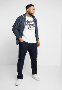 TOM TAILOR MEN PLUS - BASIC STAND UP JACKET - Bluza rozpinana - navy melange - 1