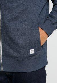 TOM TAILOR MEN PLUS - BASIC STAND UP JACKET - Zip-up hoodie - navy melange - 5