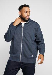 TOM TAILOR MEN PLUS - BASIC STAND UP JACKET - Zip-up hoodie - navy melange - 0