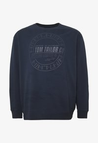 TOM TAILOR MEN PLUS - OVEDYED PRINT  - Sweatshirt - black iris blue melange - 3