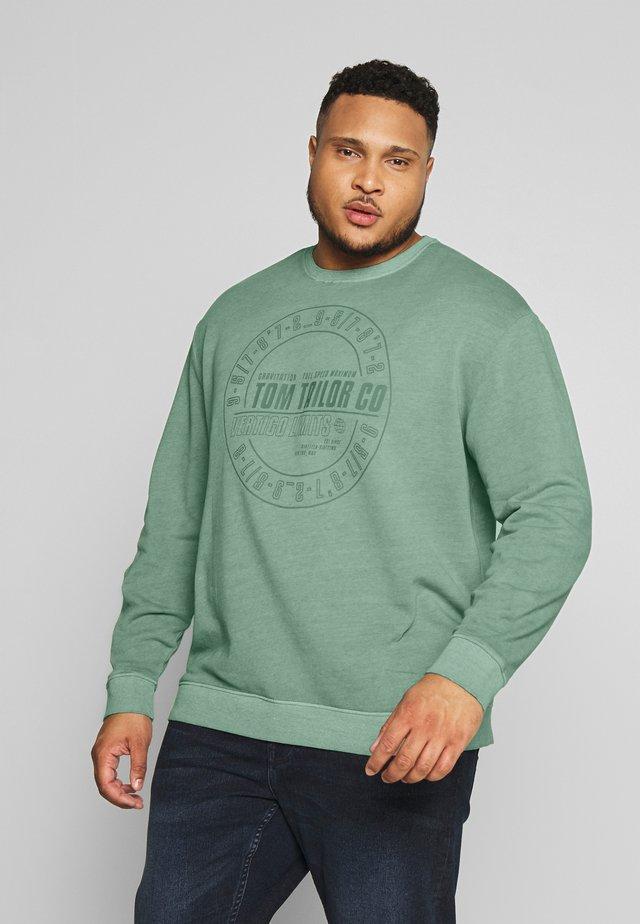 OVEDYED PRINT  - Sweatshirt - pale bark green / white melange green