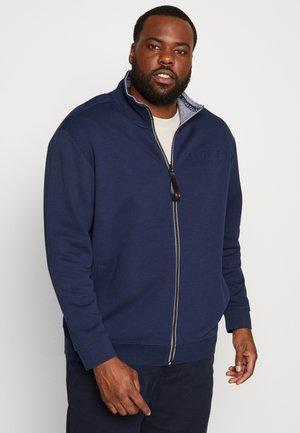 WITH LOGO TIPPING - Zip-up hoodie - black iris/blue
