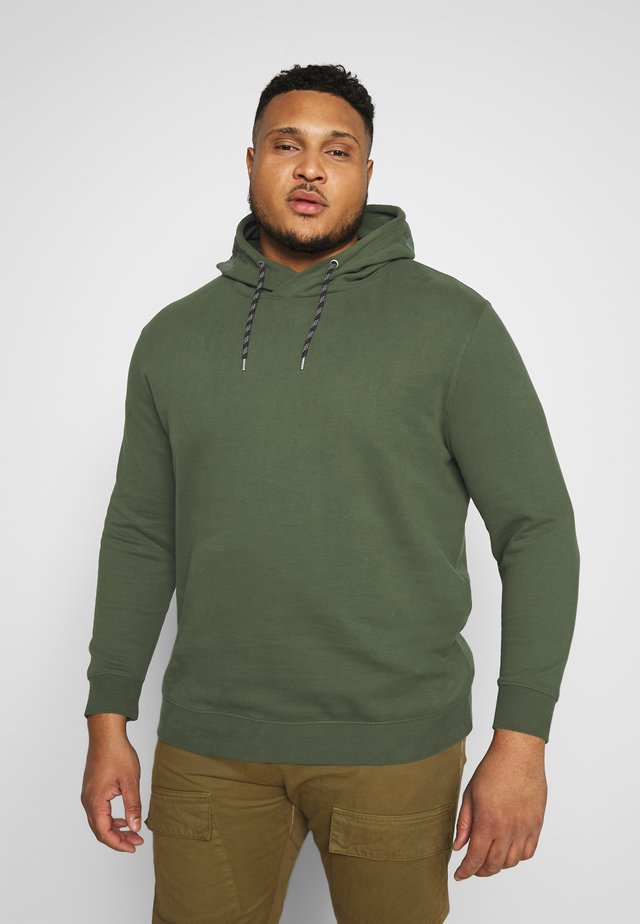 HOODIE WITH PRINT - Luvtröja - olive night green