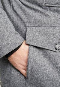 TOM TAILOR MEN PLUS - PADDED WINTERJACKET WITH HOOD - Kurtka zimowa - mottled grey - 7