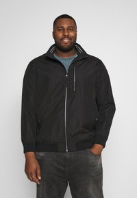 TOM TAILOR MEN PLUS - BASIC BLOUSON JACKET - Bomberjacks - black/grey - 0
