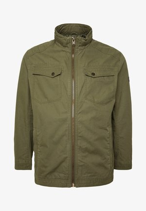 CASUAL TOUCH - Summer jacket - olive night green