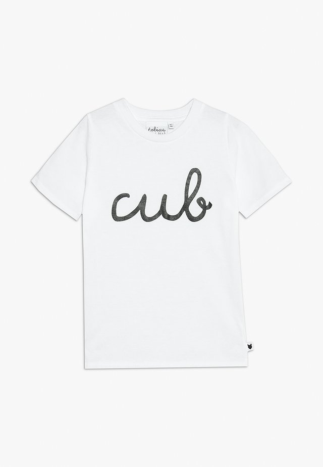 BABY CUB TEE - T-shirt med print - white