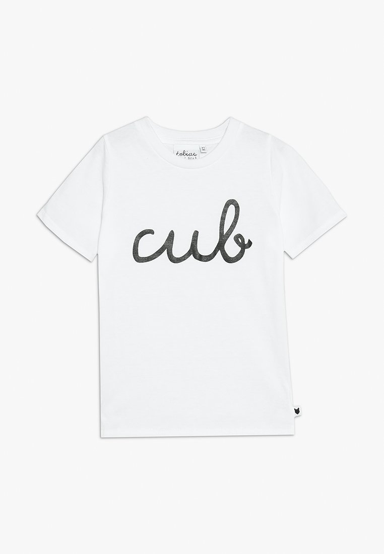 Tobias & The Bear - BABY CUB TEE - Printtipaita - white