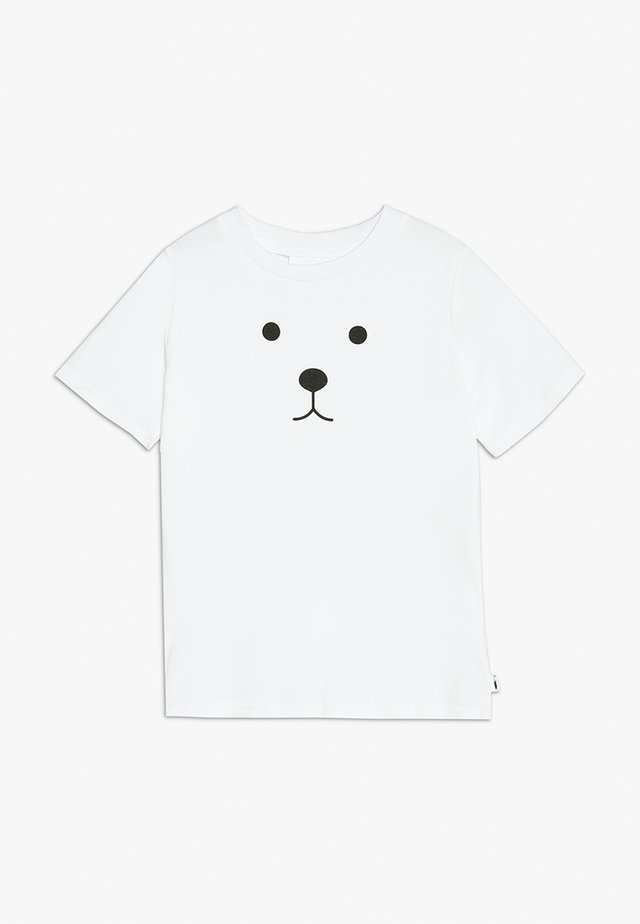 BABY BEAR FACE TEE - Printtipaita - white