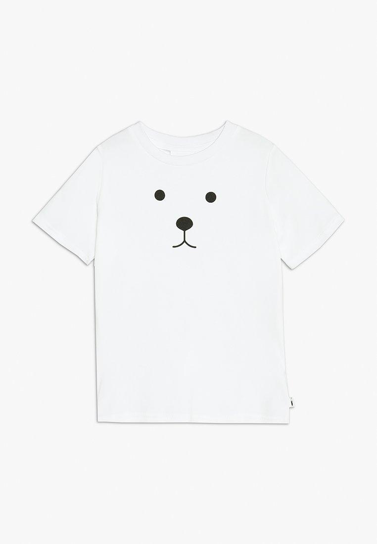 Tobias & The Bear - BABY BEAR FACE TEE - T-shirts print - white