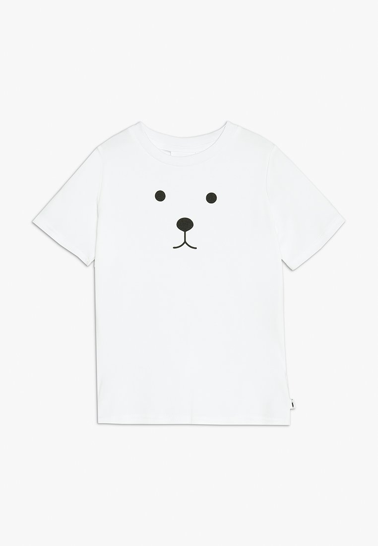 Tobias & The Bear - BABY BEAR FACE TEE - Printtipaita - white