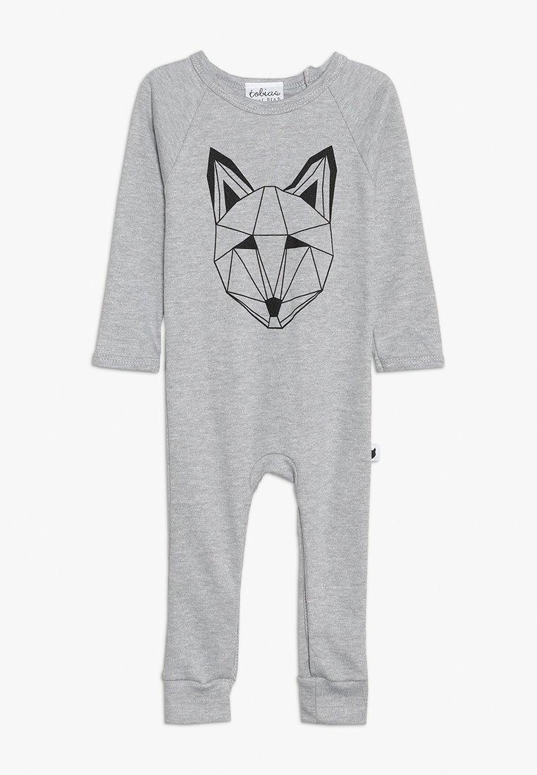 Tobias & The Bear - BABY JUST CALL ME FOX LONG ROMPER - Pyjamaser - grey marl