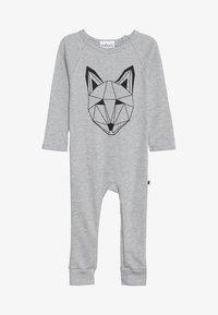 Tobias & The Bear - BABY JUST CALL ME FOX LONG ROMPER - Pyjamaser - grey marl - 3