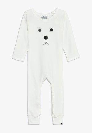 BABY BEAR FACE LONG ROMPER - Pyžamo - white