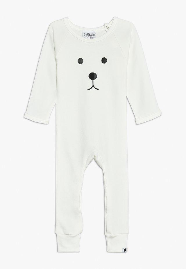 BABY BEAR FACE LONG ROMPER - Pyjama - white